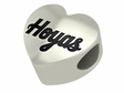 Georgetown Hoyas Heart Shape Bead
