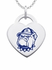 Georgetown Hoyas Logo Heart Pendant With Color