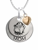 Georgetown Hoyas MOM Necklace with Heart Charm