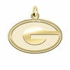 Georgia Bulldogs 14K Yellow Gold Natural Finish Cut Out Logo Charm