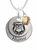 Georgia Bulldogs Alumni Necklace with Heart Accent