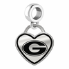 Georgia Bulldogs Border Heart Dangle Charm