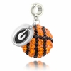 Georgia Bulldogs Crystal Drop Charm