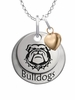 Georgia Bulldogs with Heart Accent