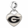 Georgia Engraved Heart Dangle Charm