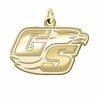 Georgia Southern Eagles 14K Yellow Gold Natural Finish Cut Out Logo Charm