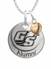 Georgia Southern Eagles Alumni Necklace with Heart Accent