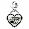 Georgia Southern Eagles Border Heart Dangle Charm