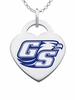 Georgia Southern Eagles Logo Heart Pendant With Color