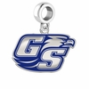 Georgia Southern Eagles Silver Logo and School Color Drop Charm