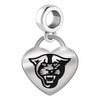Georgia State Engraved Heart Dangle Charm