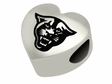 Georgia State Panthers Heart Shape Bead