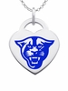 Georgia State Panthers Logo Heart Pendant With Color