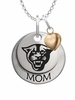 Georgia State Panthers MOM Necklace with Heart Charm