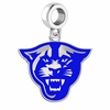 Georgia State Panthers Silver Logo and School Color Drop Charm