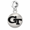 Georgia Tech Round Dangle Charm
