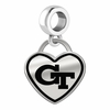 Georgia Tech Yellow Jackets Border Heart Dangle Charm
