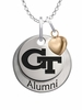 Georgia Technology Yellow Jackets Alumni Necklace with Heart Accent