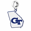 Georgia Technology Yellow Jackets Logo Dangle Charm