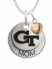Georgia Technology Yellow Jackets MOM Necklace with Heart Charm