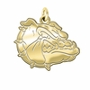 Gonzaga Bulldogs 14K Yellow Gold Natural Finish Cut Out Logo Charm