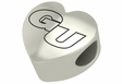 Gonzaga Bulldogs Heart Shape Bead