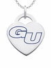 Gonzaga Bulldogs Logo Heart Pendant With Color