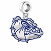 Gonzaga Bulldogs Silver Logo and School Color Drop Charm