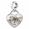 Gonzaga Engraved Heart Dangle Charm