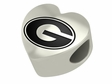Grambling State Tigers Heart Shape Bead