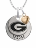 Grambling State Tigers MOM Necklace with Heart Charm