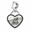 Grand Valley State Lakers Border Heart Dangle Charm