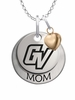 Grand Valley State Lakers MOM Necklace with Heart Charm