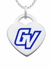 Grand Valley State Lakers Logo Heart Pendant With Color