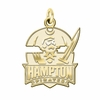 Hampton Pirates 14K Yellow Gold Natural Finish Cut Out Logo Charm