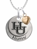 Hampton Pirates Alumni Necklace with Heart Accent