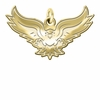 Hartford Hawks 14K Yellow Gold Natural Finish Cut Out Logo Charm