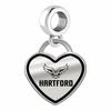 Hartford Hawks Border Heart Dangle Charm