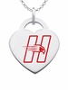 Hartford Hawks Color Logo Heart Charm