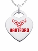 Hartford Hawks Logo Heart Pendant With Color