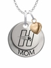 Hartford Hawks MOM Necklace with Heart Charm
