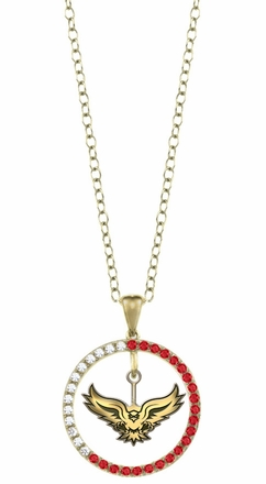 Hartford Hawks Ruby and Diamond Necklace