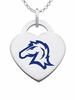Hillsdale Chargers Color Logo Heart Charm