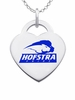 Hofstra Pride Logo Heart Pendant With Color