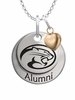 Houston Cougars Alumni Necklace with Heart Accent