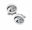 Houston Cougars Cufflinks Stainless Steel Round Top
