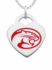 Houston Cougars Logo Heart Pendant With Color