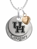 Houston Cougars with Heart Accent