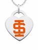 Idaho State Bengals Color Logo Heart Charm