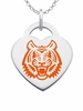 Idaho State Bengals Logo Heart Pendant With Color